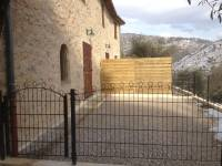 Vue de la terrasse terminée (Février 2012)