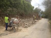 Réalisation d'un mur en pierre sèche du Pays